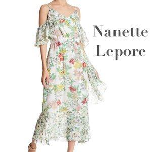 Nanette Lepore Spanish boho style midi tea dress